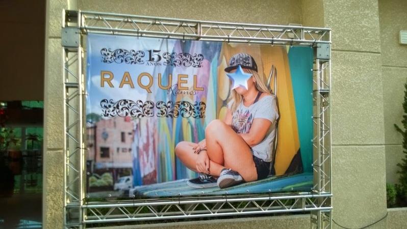 Painel em Lona com Ilhós na Cachoeirinha - Painel de Lona para Loja