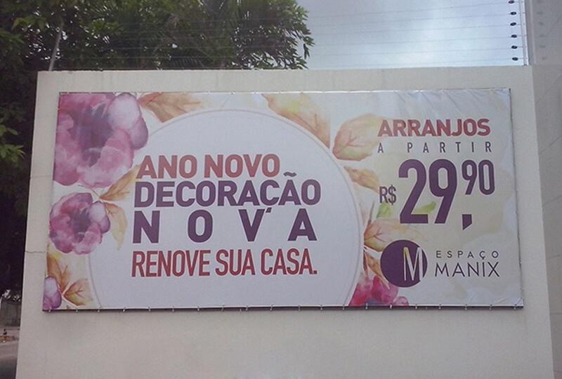 Painel em Lona Personalizado Preço Pari - Painel de Lona para Fachada de Lojas