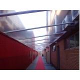 cobertura transparente para corredor em sp Jardim Ângela