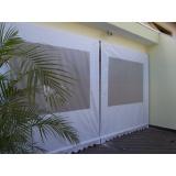 cortina de lona para janela Jardins