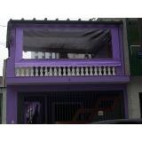 cortina em lona com visor na Ibirapuera