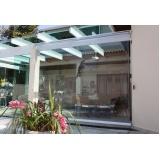 cortina em lona transparente na Santana