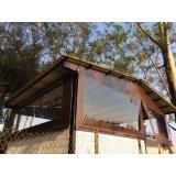 cortina enrolável transparente preço Glicério