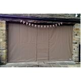 cortina de lona para varanda