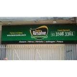 instalação de painel em lona na Vila Buarque