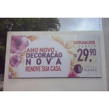 painel de lona para comércio Santo Amaro